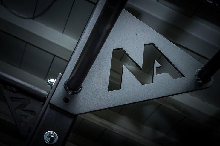 Laser cut MA logo on the MCR CF rig