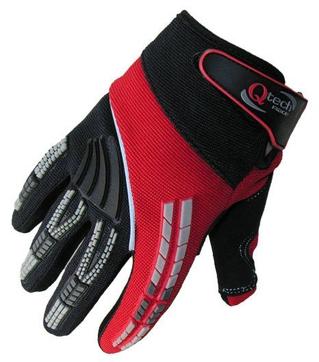 Qtech Motocross Gloves For Trials Enduro Bmx Off Road Bike Motorcross, Main Colour: Red, Size: Large: Amazon.co.uk: Car & Motorbike  £10.95