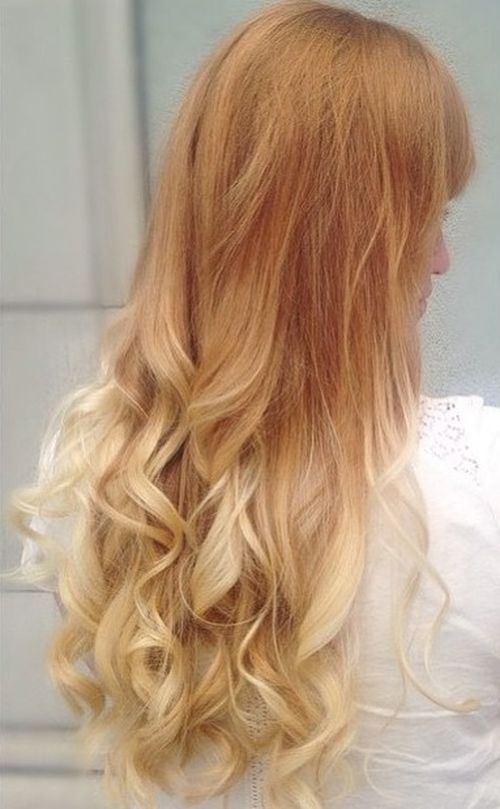 strawberry+blonde+into+white+blonde+ombre+for+long+hair