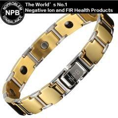 [ 23% OFF ] P100 Gold Noproblem Stainless Steel Ion Antifatigue Scalar Energy Gold Silver Friendship Metal Choker Brincos Beads Bracelet
