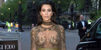 Kim Kardashian West pulls off the barely there dress with elegance: vogue.cm/AnwDaDG