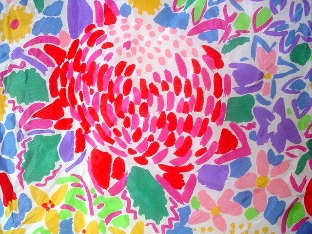 Ken_Done_Scarf_Vibrant_Wildflowers_1985_Multicolor_6.JPG (640×480)