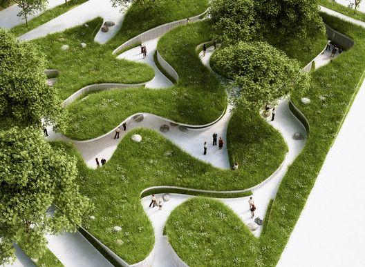 Penda projeta pavilhão inspirado na paisagem natural para a Garden Expo na China
