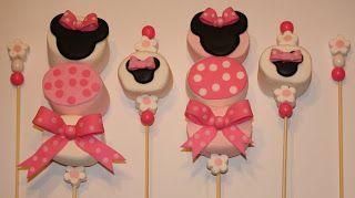 Arenita Cupcake: Paletas de Bombón de la Ratona Mimi - Minnie Mouse Marshmallow Kabobs