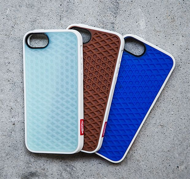 """Vans x Belkin iPhone 5 Cases. Vans' iconic waffle tread sole has been """"Off The Wall"""" & on the world's best skate shoes since 1966. Now a collaboration between the California-born shoe brand & Belkin cases has produced an iPhone case with both incredible grip and their classic white rubber bumper. $40"""
