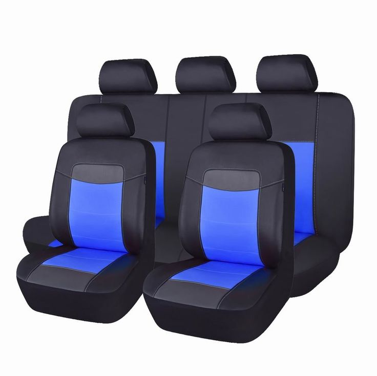 Flying Banner Beige Leather Suv Seat Covers Full Set With Designs Universal Fit For Most Cars