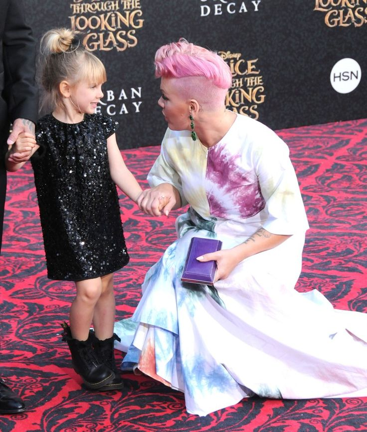Pink Hits the Red Carpet With Help From Her Husband and Her Adorable Mini Me