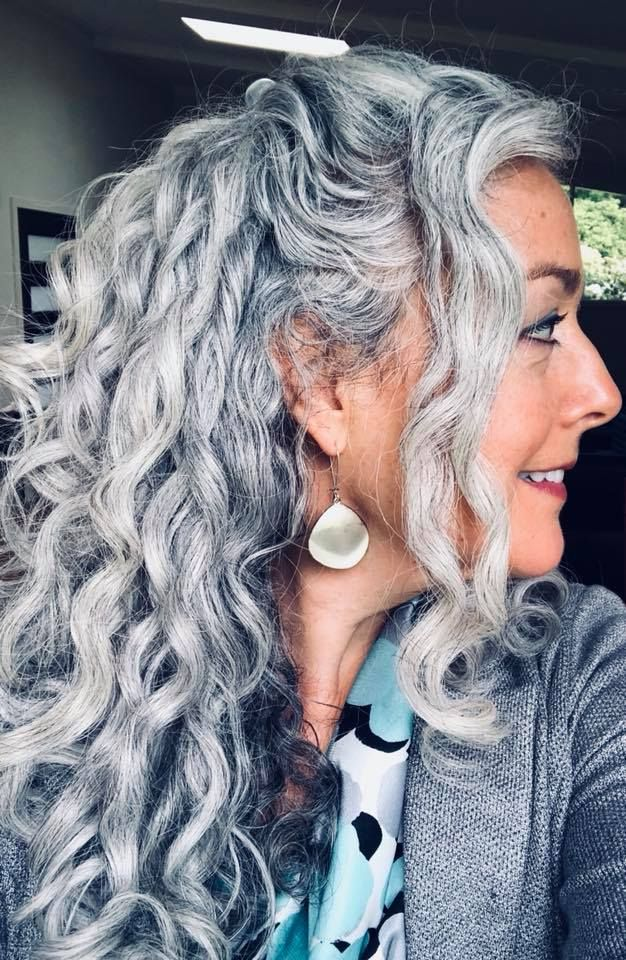 Gray Hair Don T Care Salt And Pepper Gray Hair Grey Hair Silver Hair White Hair Don T Care No Dye Dye Free Grey Curly Hair Hair Styles Haircut Gray Hair