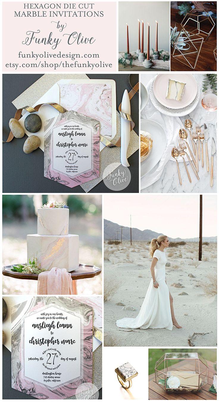 10 best Hexagon Wedding Invitations images on Pinterest   Wedding ...