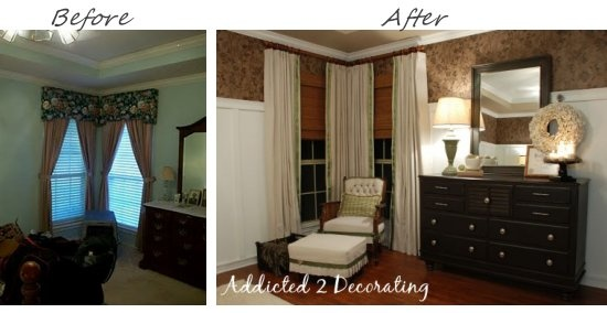 Master bedroom furniture placement & updates. Big difference!