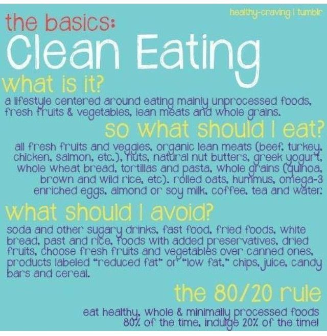 clean eating is something you can do for the rest of your life, it is not a diet.