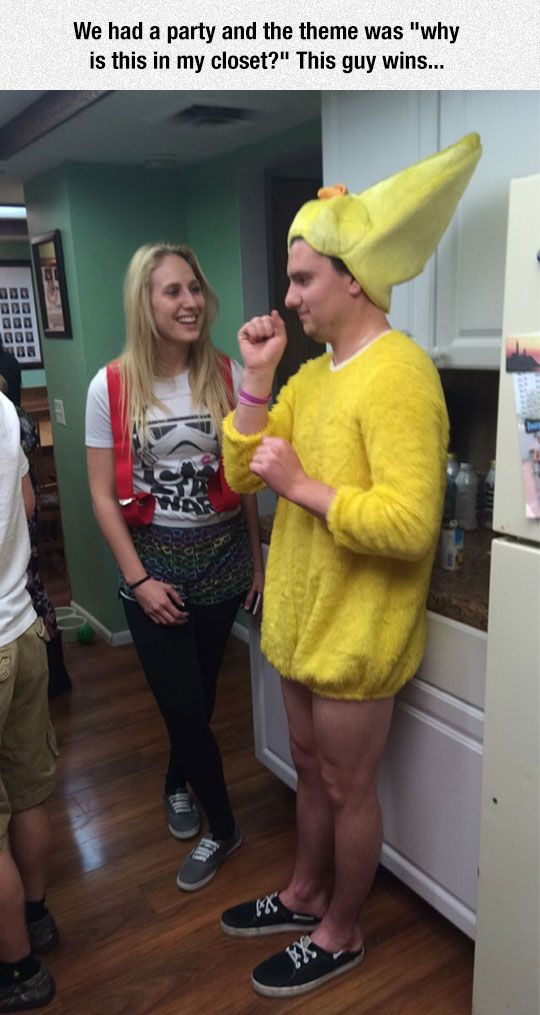 """Why Is This In My Closet. Funny! """"We had a party where you had to dress up to the theme of """"why is this in my closet?"""" This guy wins..."""" Hilarious!"""