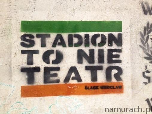 Stadion to nie teatr - szablon Wrocław #stadion #teatr #szablon #graffiti #Wrocław #WKS