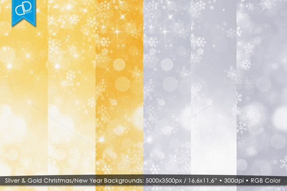 Silver & Gold Christmas/New Year Bg by cDDesign on Creative Market