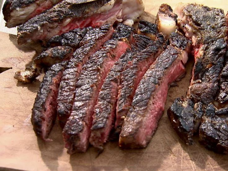 """Elis Grilled Rib Eye Steak from FoodNetwork.com Ina """"Cooking with Friends"""" episode"""