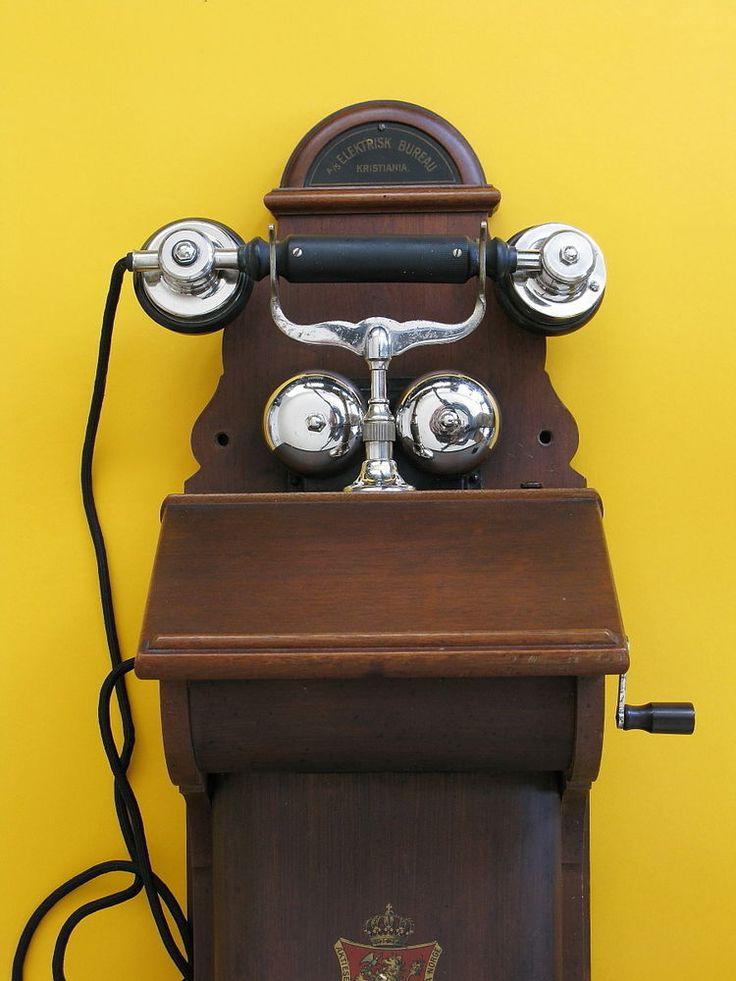 Antik Wandtelefon, Telephone A / S Elektrisk Bureau Kristiania, Ericsson v. 1917