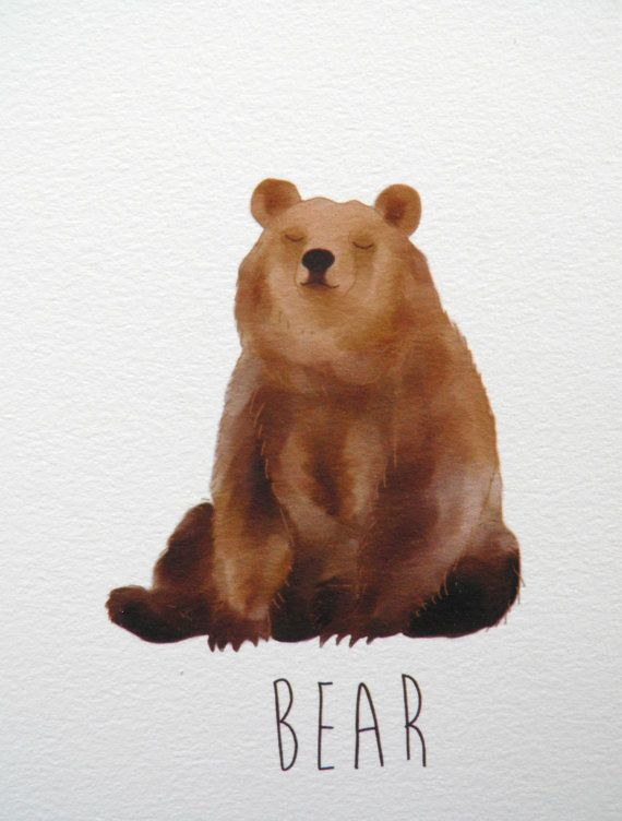 Bear art print A6 by NikkiDotti.  * I can imagine this Bear meditating.  Ommmm Mani Padme Hummmm.  xoxo
