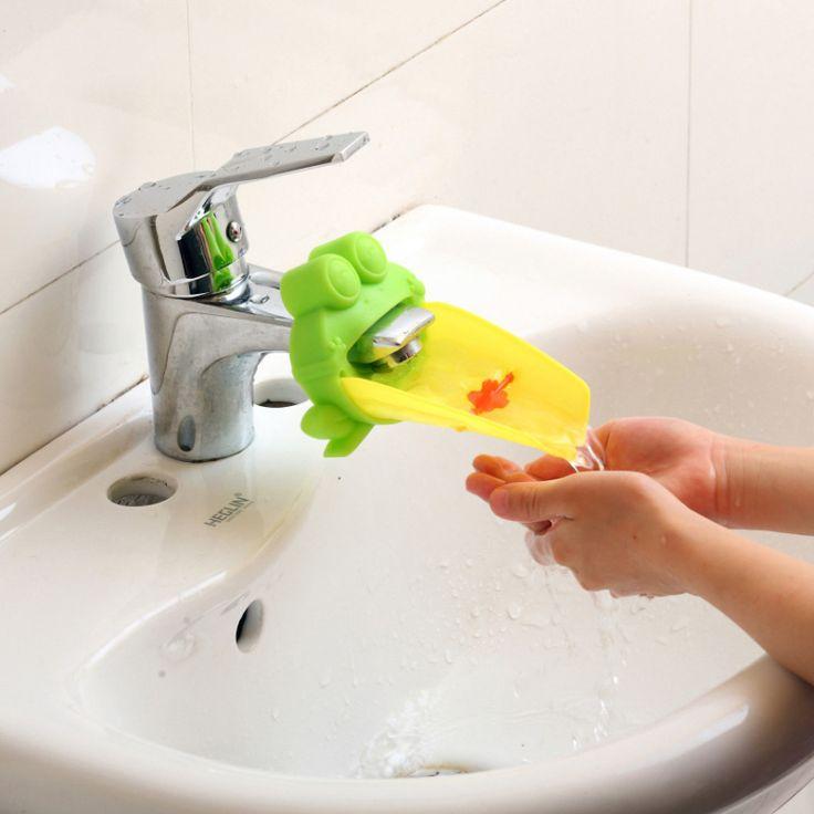 Бесплатная доставка симпатичные лягушка кран раковины ванной комнаты ла желоб расширитель дети дети мытье рук удобно для ребенка, Стиральная помощник NG4S купить на AliExpress