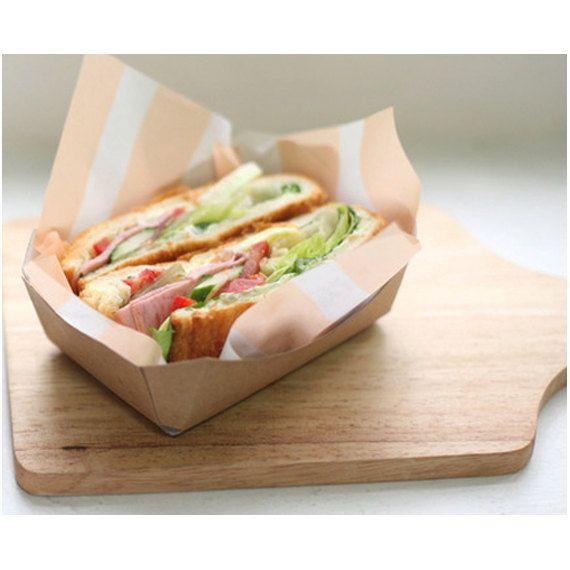 10 Kraft Paper Sandwich Tray3 swp0028 por verryberrysticker