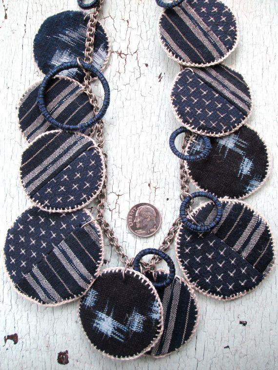 Indigo Necklace by lesliejanson on Etsy