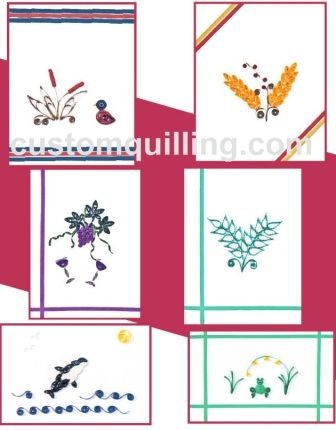 Quilling Cards for Him Kit Custom Quilling Supplies Kit includes: Quilling Paper, 6 4 x 5 folded note cards with envelopes complete instructions to finish the cards. Skill Level: Beginner