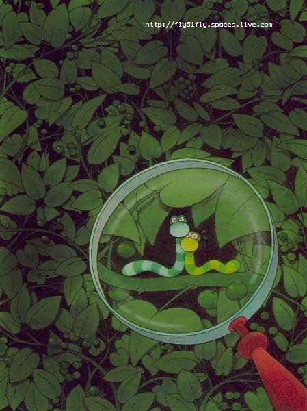Mordillo #lupa #gusanos #hojas