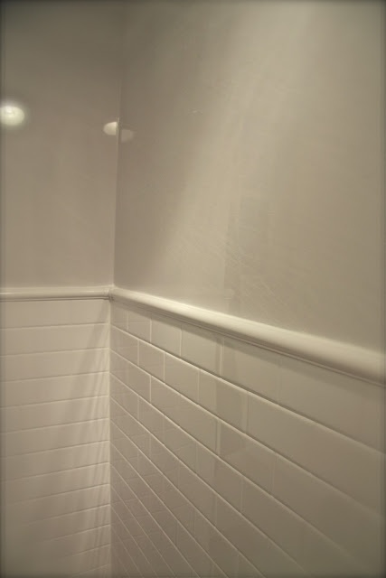 Bathroom Makeovers With Wainscoting 15 best tile wainscoting images on pinterest | bathroom ideas