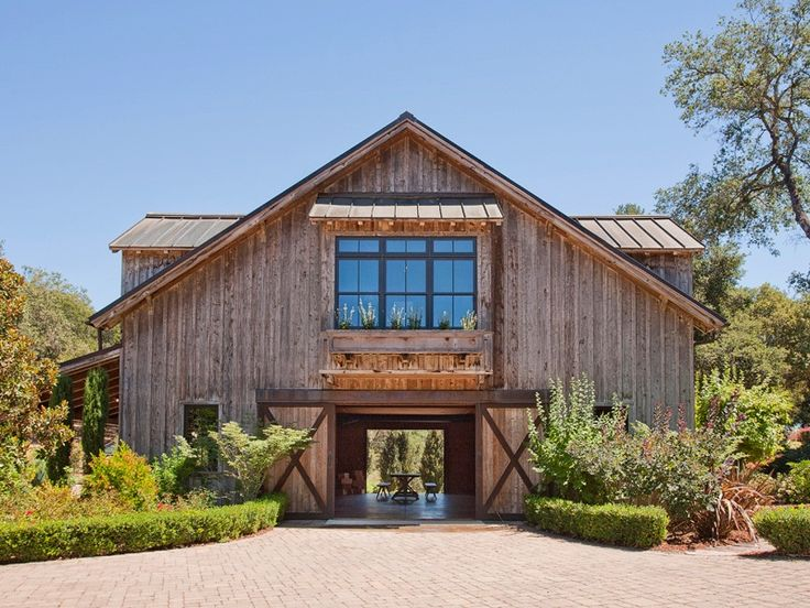 Love this barn with guest house above. Interior Design Ideas - Home Bunch