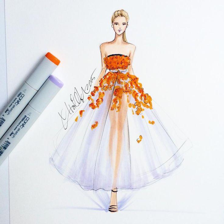 Fashion illustration sketch dresses