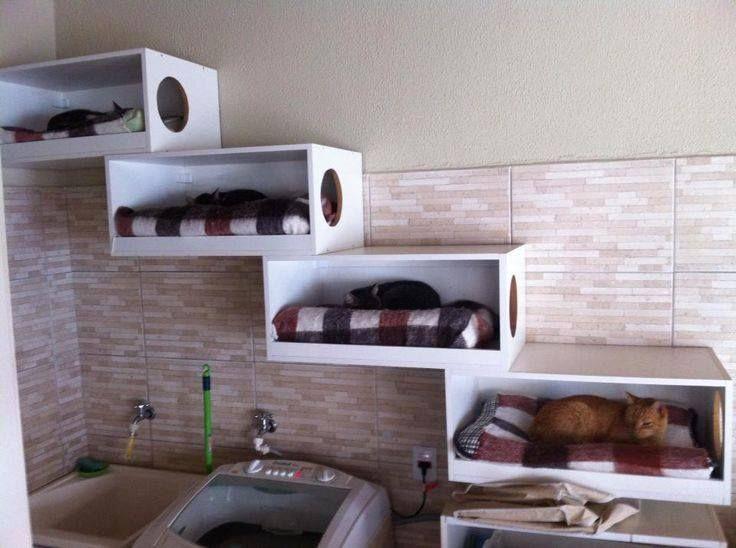 Me encantó la idea!! Si se fijan, han aprovechado el espacio sobre el lavadero, funcional y bello