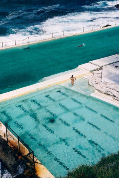sydney rock pools - australia. We see some fashion inspiration from those blues