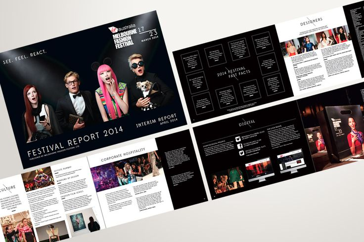Melbourne Fashion Festival / Festival Report design - Alexsia Heller