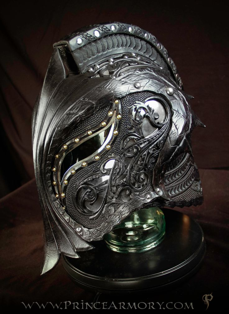 Dragon Crusader Helmet by Azmal costume cosplay LARP equipment gear magic item | Create your own roleplaying game material w/ RPG Bard: www.rpgbard.com | Writing inspiration for Dungeons and Dragons DND D&D Pathfinder PFRPG Warhammer 40k Star Wars Shadowrun Call of Cthulhu Lord of the Rings LoTR + d20 fantasy science fiction scifi horror design | Not Trusty Sword art: click artwork for source