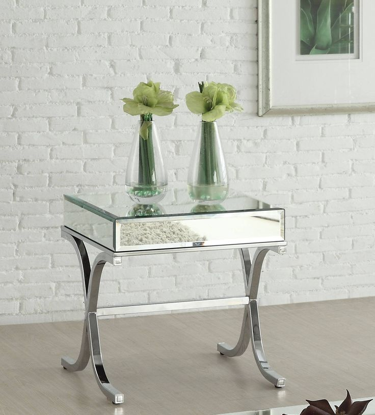 Mirrored Side Table, End Table