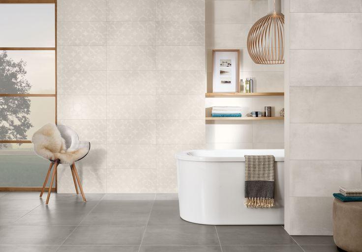 Bij de Century Unlimited tegels van Villeroy & Boch kun je geheel volgens persoonlijke voorkeur kiezen uit drie harmonische kleurenschema's en verschillende decors.