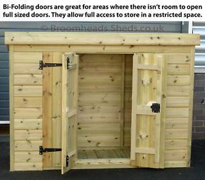 12mm-Tanalised-Timber-wood-Tool-Tidy-Bike-store-Shed-BI-Fold-door-Height-4-46
