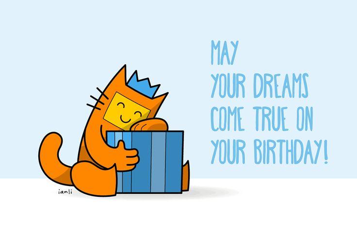 Herbert the Cat - Birthday Card Series - The Roundlings #cute #drawing #birthday