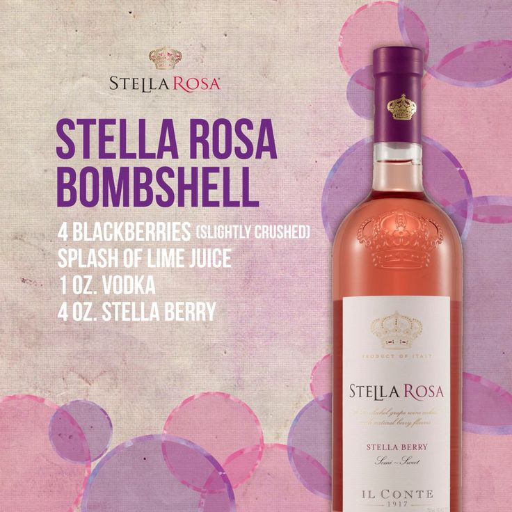 Best 25 stella rosa ideas on pinterest stella wine for Mix drinks with wine