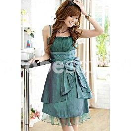 Valentine - robe de cocktail babydoll bandes superposées 1110