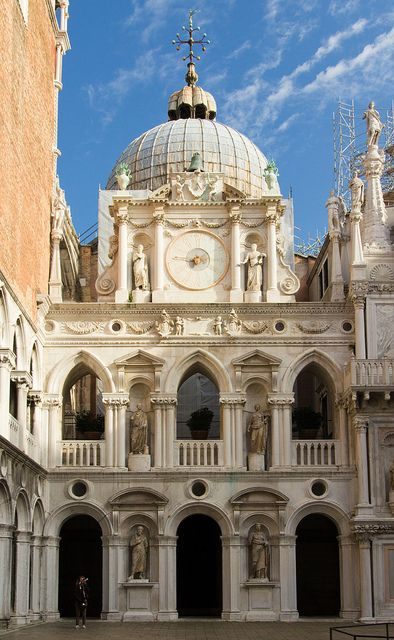 Doges Palace Courtyard, Venice, Italy