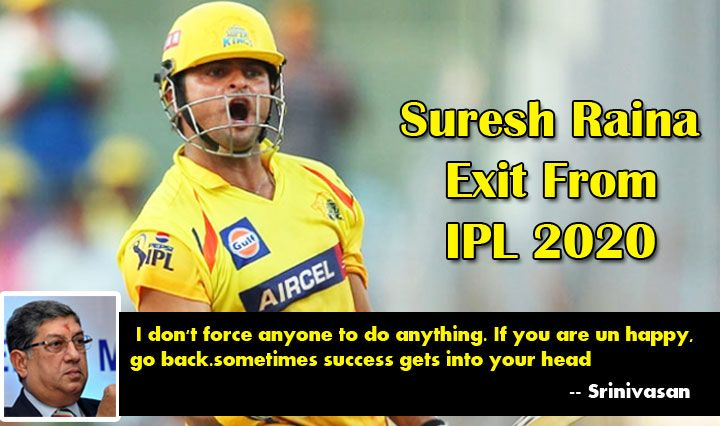 Suresh Raina Exit From Ipl 2020 Csk Owner Srinivasan Speaks About This In 2020 Ipl Chennai Super Kings Sports News
