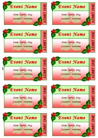 11 best Tickets images on Pinterest Word templates, Formal and - event ticket template word