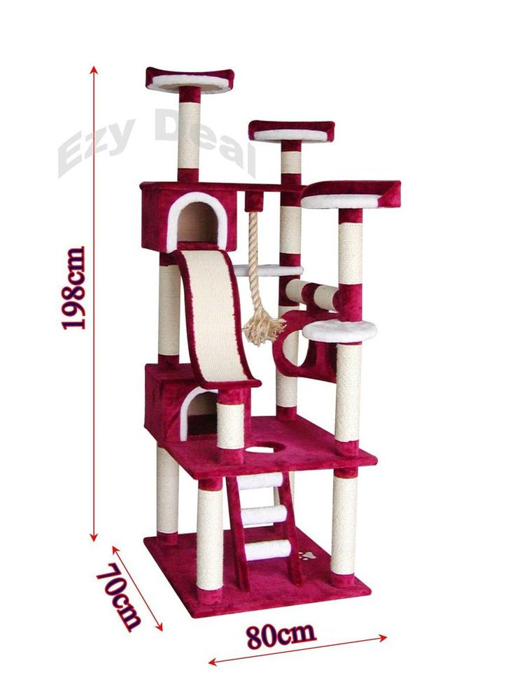 brand new giant 198cm cat tree scratch post scratching. Black Bedroom Furniture Sets. Home Design Ideas