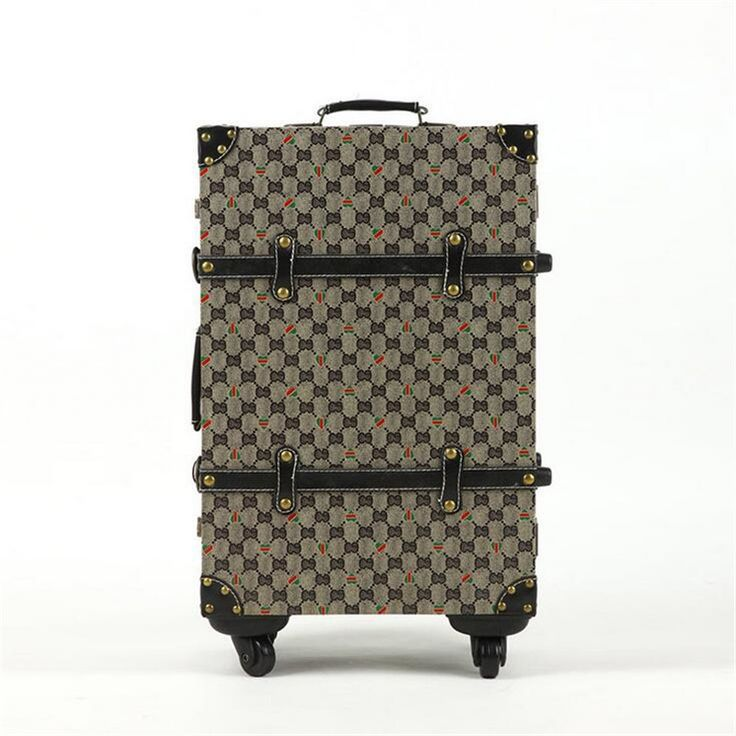 171.00$  Buy now - http://alit6i.worldwells.pw/go.php?t=32667622390 - 2016 British retro plaid suitcase trolley suitcase caster board chassis suitcase men and women 20-inch 24-inch hot free shipping
