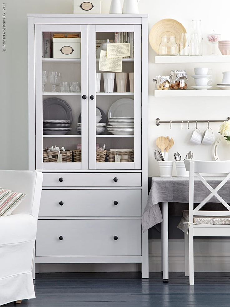 Where Do You Store Your Dishes? - The Inspired Room Hemnes 3 Drawer Cabinet from Ikea
