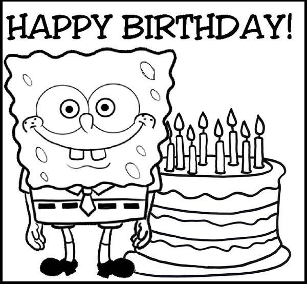 find this pin and more on birthday happy birthday by spongebob coloring pages