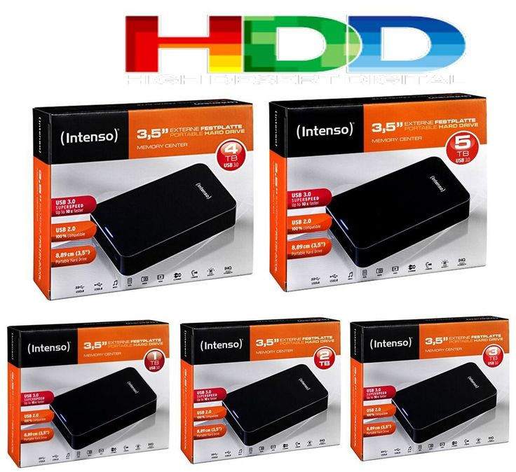 HDD Disque dur externe 3,5 1TO 2TO 3TO 4TO 5TO TB TO Pc Portable Intenso USB 3.0