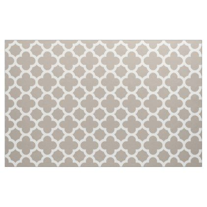 Chic Beige Gray Retro Cute Trellis Pattern Fabric - artists unique special customize presents