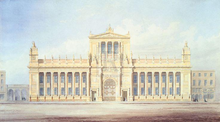 Sir James Pennethorne   Design For Burlington House, London   Detail   Rosenstiel's