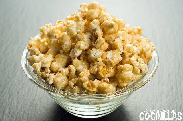 Cómo hacer palomitas dulces caseras. Receta fácil paso a paso. Unas palomitas de maíz con caramelo, para endulzar el rato delante de una peli.